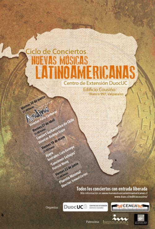 afiche nuevas musicas latinoamericanas